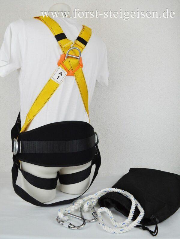 Sicherheitsgurt Klettergurt Kletterausrüstung Baumpflege Fallschutz - Rückansicht 2